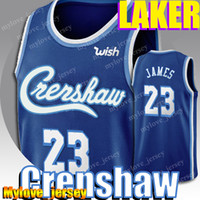 Crenshaw 23 LeBron James Jersey 3 Anthony Davis Jersey Kyle 0 Kuzma Basketball Jerseys New Season Basketball Jersey