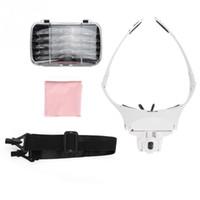 Gözlük Tipi Bandı Büyüteç 5 Lens ile Takı Kontrol İzle Tamir için LED Işık