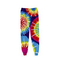 Tie Dye 3D Baskılı Sweatpants Baghee Moda Harajuku Jogger Pantolon Renkli Psychedelic eşofman altı Streetwear Erkek / Bayan Pantolon