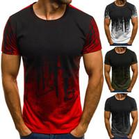 Novo Designer de Moda Masculina Esportes Camisa de Fitnesst Camuflagem de Manga Curta T-shirt Personalidade Verão Impressão T-shirt Masculina Tops