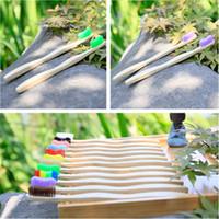 Hotel disponible gruesa cepillo de dientes de manivela de bambú sana la piel suave cepillo de dientes natural Eco Asa de Madera Cepillo de dientes adultos T9I0071