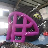 5x4m publicidade tenda esporte gigante futebol inflável túnel capacete para o evento