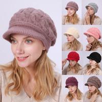 Signore delle donne inverno caldo cappello Crochet del Knit Slouchy Baggy visiera Beanie Caps recenti protezioni lavorate a maglia modo delle donne