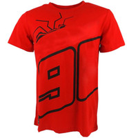 T-shirt Motocross Race Motocicletta The Ant Moto Dirt Bike Red T-shirt in cotone