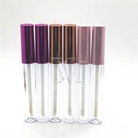 VMAE Personnalisé logo 3ML LIP vide Gloss Boîte en plastique Boîte en plastique Rose Gold Gold Lipgloss Tube Eyeliner Conteneur Mini Bouteille Split