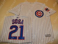 Cheap custom Chicago SAMMY SOSA Sewn Baseball Jersey W Patch...
