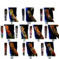 114 estilo NUEVO MANGA DE TATUAJE 92% nylon + 8% spandex tatuaje Elástico Medias del brazo Ciclismo al aire libre Manga del brazo Anti-UV Protector solar