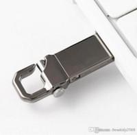 Tasarım Gerçek Kapasite USB 2.0 Metal USB Flash Sürücü Anahtarlık ile Yüksek Hızlı Memory Stick 32 GB ~ 64 GB