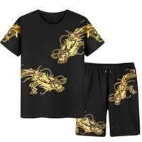 Short Sleeve O-Neck Print Shirt and Shorts Sets Men Tracksuits New Arrived Summer Men T-Shirts Sport Suit Men Plus Size