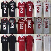2 Johnny Manziel 9 Ricky Seals-Jones 40 폰 밀러 유니폼 2016 텍사스 AM Aggies Jerseys Football College 블랙 화이트 레드 스티치 S-3XL