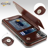 HOT retro pu leather case para iphone x 6 6 s 7 8 plus xs 5s se multi titulares de cartão de telefone casos de telefone para iphone xs max xr 10 capa para samsung