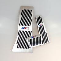 Pas Drill Gaz frein Repose-pieds Pad plaque de pédale pour BMW X5 X6 Série E70 E71 E72 F15 AT pédale de frein de gaz en alliage d'aluminium LHD AT M LOGO
