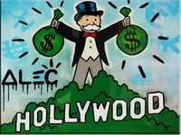 Alec Monopoly graffiti art Hollywood Home Decor Handpainted ...
