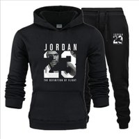 2020 New Tracksuit Men Two Piece Hoodies+ Pants Fall   Winter...