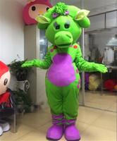 Halloween Zielony Barney Dinozaur Maskotki Kostium Cartoon Anime Anime Tematu Christmas Carnival Party Fantazyjne Kostiumy Strój Dorosłych
