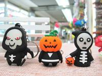 Articoli da regalo Nuovo Halloween Skull igienici catena di gomma Portachiavi Ciondolo della borsa Car Charm portachiavi chiave 200 pz
