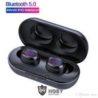 B5 True 무선 스테레오 블루투스 5.0 TWS Earbuds Hifi 음악 방수 미니 이어폰 아이폰 13 프로 최대 12 11 삼성 S21 Noey