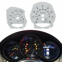 instrumento Turbo Grupo de medidores de la cara para Porsche 981 982 (718) Boxster / Cayman / Macan 280 km / H Blanco Rojo Amarillo