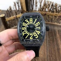 En Kaliteli erkek Koleksiyonu V45 Çılgın Saatler Asya Özel Baskı Karbon Fiber İzle Miyota Otomatik Erkek İzle Kauçuk Kayış Gents Saatler