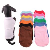 الألوان الحيوانات الأليفة ملابس متعدد 4 الحجم الصيفية الحيوانات الأليفة الصلبة تي شيرت الكلب الملابس الكلاسيكية جرو كلب صغير الملابس قميص الملابس المصنوعة من القطن DH0284 T03