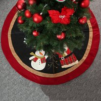 Festa de Natal Árvore de Natal 47inch saia Papai Noel boneco de neve impressão da árvore de Natal saia Ano Novo Feliz Enfeite Saias DBC VT1095