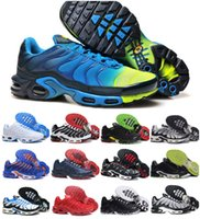 Venta al por mayor 2018 Air TN Plus Chrome Hombres Deportes RunnING Casual ShOes zapatillas de deporte al aire libre respirables ShOes Gris TN Requin Homme tamaño 36-46