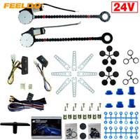 Feeldo 24 V Auto / Truck Universele 2-deuren Elektrische stroomvenster Kits met 3 stks / set Schakelaars en harnas # 1420