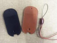 ecigarette sıfır vape deri çanta kordon ile siyah kahverengi renk yeni e sigara çantası taşıma çantası