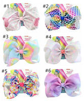 new design JOJO bow baby girl Children 8 inch LARGE Rainbow ...