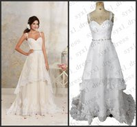 real picture vintage a line wedding dresses 2020 tired robes...