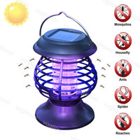 Mosquito Killer Lamps Solar Lights Hanging Portable Outdoor Waterproof IP65 ABS UV White For Villa DHL