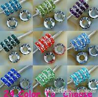 12mm de Cor Misturada Strass Cristal Rondelle Spacer Beads, Rhodium Grande Buraco Europeu Bead para pulseira hotsale DIY Achados u2352 s72