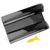 1M * 50 cm VLT Black Auto Startseite Glas Fenster Film Autofenster Tinting Filmrolle Sonnenschutz mit Schaber Autozubehör