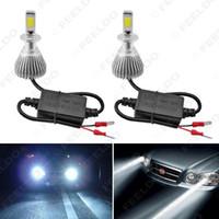 سوبر وايت H3 6000K 60W 6400LM السيارات COB LED العلوي كيت الضباب لمبات مصباح مصابيح زينون # 1722