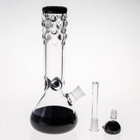 27см высокий стеклянный бонг с шиной с давлением 14.4 мм / 18,8 мм Совместные стеклянные воды водопроводные трубы две функции перколятор кальяны курительные воды трубы