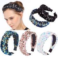 Ragazze Shiny Woman Hairbands di lusso strass ampio fascia diamante capelli cerchio accessori per le donne Crystal Fandbands Headwear