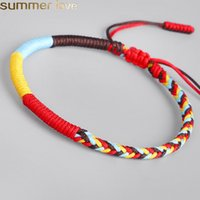 New Handmade Multi Color Good Lucky Red Rope Charm Tibetan B...