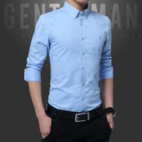 Männer Lässige Hemden Langarm Hemd Männlichen Bräutigam Groomsman Anzug Mode Farbe Einsatz Trend Dünne Abschnitt Herbst Overalls Mantel