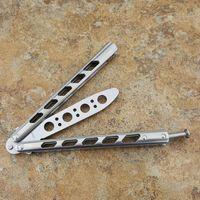 Benm 실버 아크 엔젤 440C 티타늄 핸들 부싱 시스템 나비 트레이너 훈련 칼 날카로운 공예 무술 컬렉션 knvies