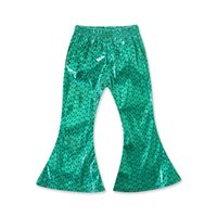 good quality Todder Kids pants Baby Girls trousers Mermaid F...