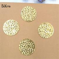 보이스 (100 개 / 로트) 금속 황동 스탬핑 20MM 라운드 부동 부츠 Diy 손으로 만든 재료 보석 만들기