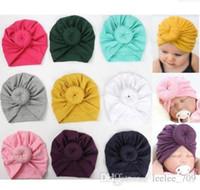 Hotsale الوليد الطفل قبعة الهندي دونات دوامة headwrap القبعات قبعات الأمومة الخريف الربيع 12 ألوان تصدير