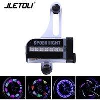 JLETOLI (14) LED 자전거 라이트 자전거 휠 라이트 신호 타이어는 30 명 변경 산악 자전거 액세서리 스포크