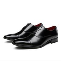 Классические деловые мужские туфли с квадратной головкой мужские лакированные кожаные черные свадебные туфли формальная обувь оксфорд