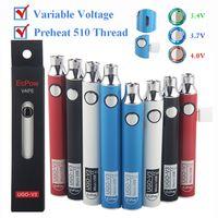 Bateria de Vape de UGO-V3 900mAh 510 Tensão Pessoas Pena de Vapor Bateria Variável Baterias Variável Com Micro USB Cabo Atomizer Cartuchos