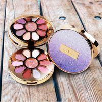 Maquillage Fashion Star Glitter EYESHADOW palette 11 couleurs Shimmer Matte Ombre à paupières fille coeur pétales de forme de fard à paupières Maquillaje