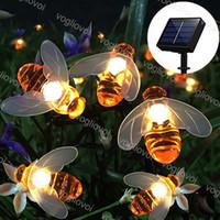 잔디 램프 태양 정원 조명 LED 문자열 꿀벌 2m 5m 20 50led 따뜻한 흰색 장식 빛 크리스마스 휴일 DHL
