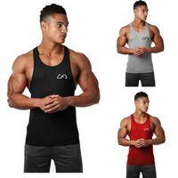 Abbigliamento da palestra per uomo Sport Stampa senza maniche Fitness Bodybuilding Stringer Tank Muscle Top Maglie da basket