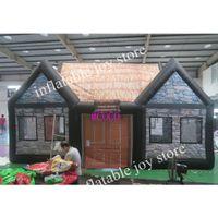 Barraca de pub irlandesa inflável personalizada, popular casa de tenda de festa ao ar livre barra de barra inflável boa qualidade explodir sala de pub