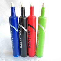 Più nuovo Hi Liter Marker Pen Pen Pipes Cucchiaio in metallo Cucchiaio di erbe Tabacco con tabacco con cappuccio Sneak A Tank Click n VAPE 4.9 pollici 6 colori Fumo